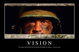 Vision: Citation Et Affiche D'Inspiration Et Motivation