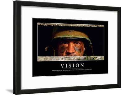 Vision: Citation Et Affiche D'Inspiration Et Motivation