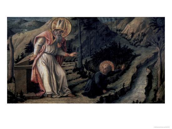 Vision of Saint Augustine, c.1452-1465-Filippo Lippi-Giclee Print