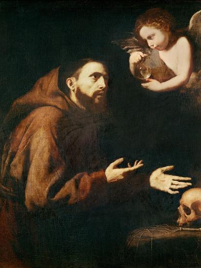 Vision of St. Francis of Assisi-Jusepe de Ribera-Giclee Print