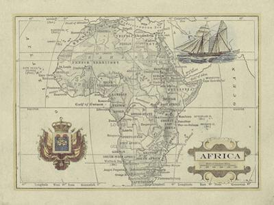 Antique Map of Africa by Vision Studio
