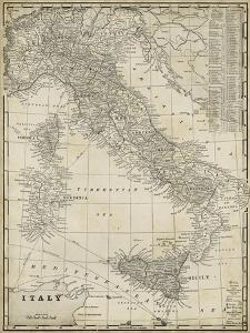 Antique Map of Italy by Vision Studio