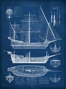 Antique Ship Blueprint I by Vision Studio