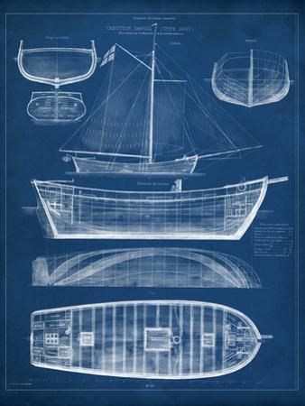 Antique Ship Blueprint II by Vision Studio