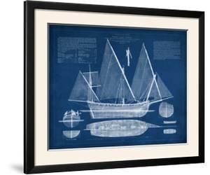 Antique Ship Blueprint III by Vision Studio