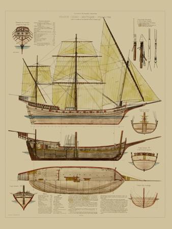 Antique Ship Plan II