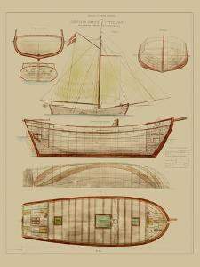 Antique Ship Plan III by Vision Studio