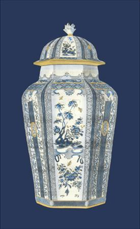 Asian Urn in Blue & White I by Vision Studio