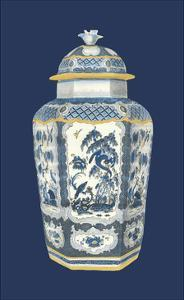 Asian Urn in Blue & White II by Vision Studio