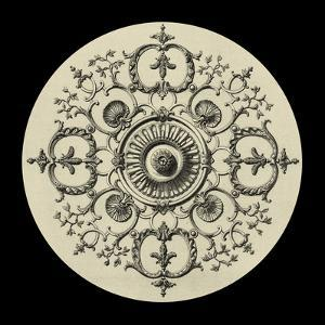 Black and Tan Medallion I by Vision Studio
