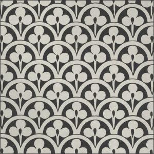 Black & Tan Tile I by Vision Studio