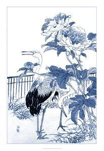 Blue & White Asian Garden I by Vision Studio