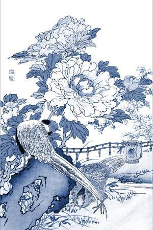 Blue & White Asian Garden II