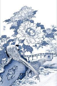 Blue & White Asian Garden II by Vision Studio