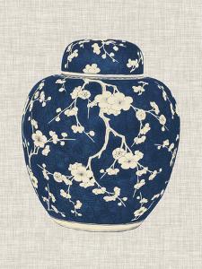 Blue & White Ginger Jar on Linen II by Vision Studio