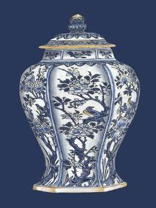 Blue & White Porcelain Vase II by Vision Studio