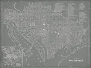 City Map of Washington, D.C. by Vision Studio