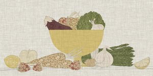 Contour Fruits & Veggies III by Vision Studio