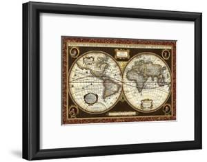 Beautiful antique maps framed posters artwork for sale posters and decorative world map vision studio framed art gumiabroncs Choice Image