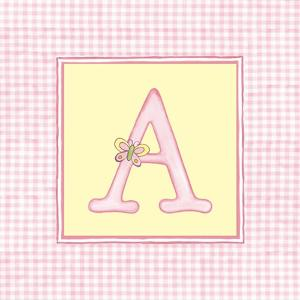 Girl Letter A by Vision Studio