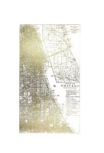 Gold Foil City Map Chicago by Vision Studio