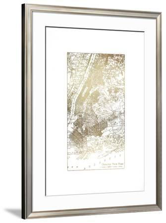 Gold Foil City Map New York