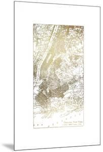 Gold Foil City Map New York by Vision Studio