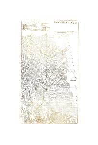 Gold Foil City Map San Francisco by Vision Studio
