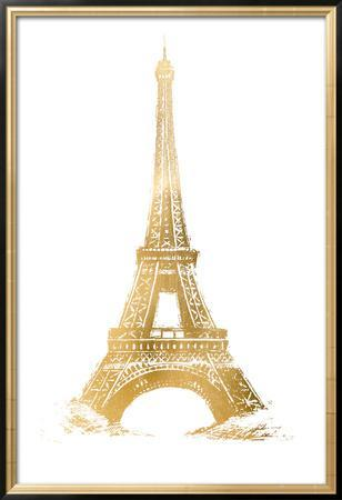 Gold Foil Eiffel Tower by Vision Studio