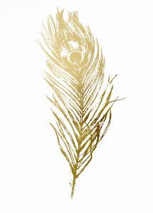 Gold Foil Feather II by Vision Studio