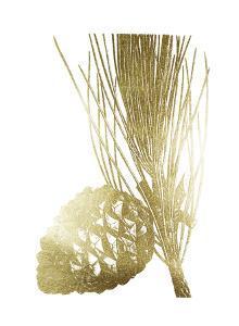 Gold Foil Pine Cones I by Vision Studio
