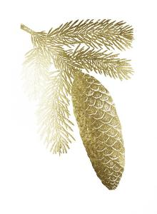Gold Foil Pine Cones IV by Vision Studio