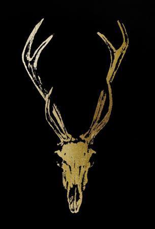 Gold Foil Rustic Mount I on Black