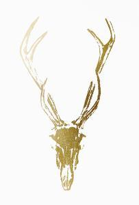 Gold Foil Rustic Mount I on White by Vision Studio
