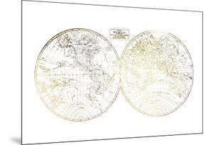 Gold Foil World in Hemispheres by Vision Studio