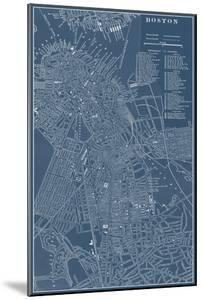 Graphic Map of Boston by Vision Studio
