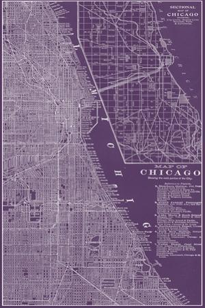 Graphic Map of Chicago by Vision Studio