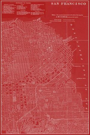 Graphic Map of San Francisco by Vision Studio