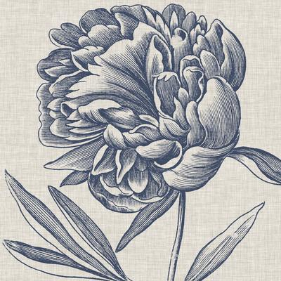 Indigo Floral on Linen II