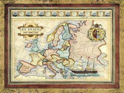 Map of Europe by Vision Studio
