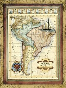 Map of South America by Vision Studio