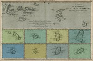 Map of the Greater & Lesser Antilles by Vision Studio