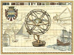 Nautical Map I by Vision Studio