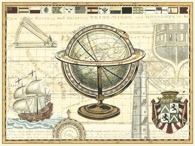 Nautical Map II by Vision Studio