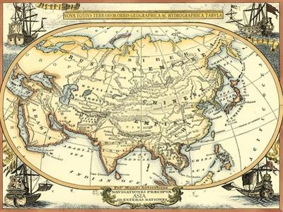 Nautical Map of Asia by Vision Studio