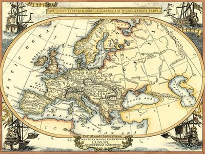Nautical Map of Europe by Vision Studio