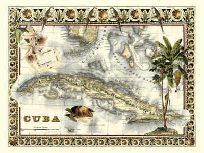 Tropical Map of Cuba by Vision Studio