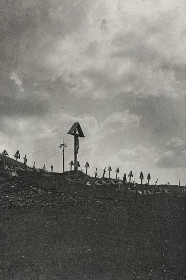 Visions of War 1915-1918: Military Cemetery in the Mountains-Vincenzo Aragozzini-Photographic Print