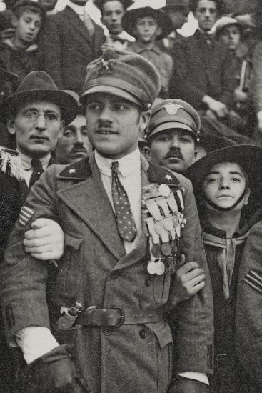 Visions of War 1915-1918: War Hero with Many Medals in the Chest-Vincenzo Aragozzini-Photographic Print