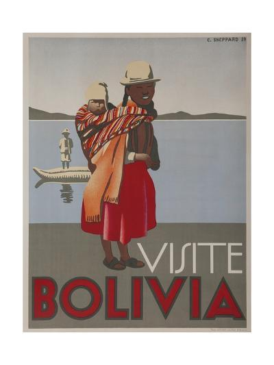 Visit Bolivia 1935 Travel Poster--Giclee Print